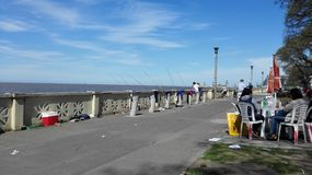 Port de pêche de Rio de la Plata image stock