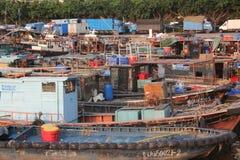 Port de pêche de Shekou à SHENZHEN CHINE AISA Image libre de droits