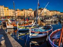 Port de pêche de StTropez Image stock