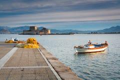 Port de pêche en Grèce Images stock
