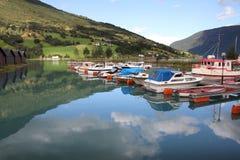 Port de pêche en Norvège Images libres de droits