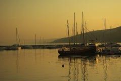 Port de pêche, près de Balchik, la Bulgarie 2 Photos stock