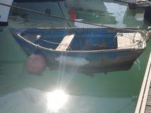 Port de pêche de Quateira - canot image libre de droits