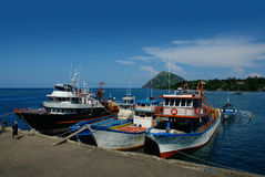 Port de pêche tropical Photo stock