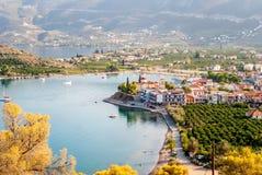 Port de Palaia Epidaurus, Argolida, Grèce Photo libre de droits