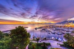 Port de Palerme au lever de soleil Images stock