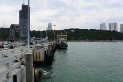 Port de Pattaya Photos libres de droits