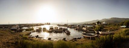 Port de pêche de Gumuldur Photos libres de droits