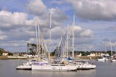 Port de Perros-Guirec dans les Frances Images libres de droits