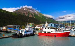 Port de petit bateau, Seward Alaska Photo stock