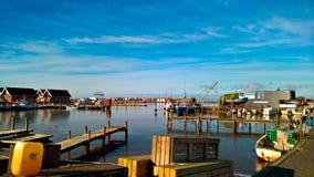 Port de petite ville Photo stock