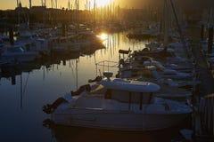 Port de plaisance, il porto di svago di Hendaye, l'Aquitania, franco Fotografia Stock