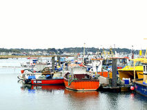 Port de Poole et bancs de sable, Dorset. Photographie stock libre de droits