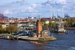 Port de port de Rotterdam, Hollande, Pays-Bas Photos stock
