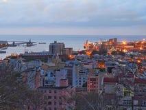 Port de Port-Louis au crépuscule Photo stock