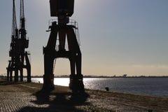 Port de Porto Alegre, Brésil Photographie stock libre de droits
