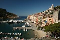 Port de Portovenere en Italie Images libres de droits