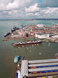 Port de Portsmouth et chantier de construction navale naval Photo libre de droits