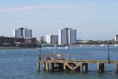 Port de Portsmouth. Le Hampshire. LE R-U Photo stock