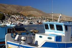 Port de Pothia sur l'île de Kalymnos Image libre de droits
