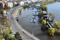 Port de Prague images stock