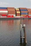 Port de récipient Photos stock