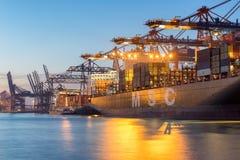 Port de récipient de Hambourg Images libres de droits