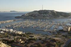 Port de Ratonneau Frioul öar Marsella Frankrike Arkivbilder