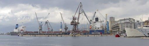 Port de Rijeka Photos libres de droits