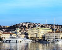 Port de Rijeka en janvier images libres de droits