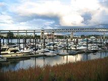 Port de rivière de Portland Images libres de droits