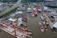 Port de Rotterdam Photos libres de droits