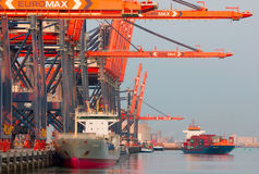 Port de Rotterdam, Hollandes Image libre de droits