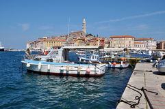 Port de Rovinj, Croatie Image libre de droits