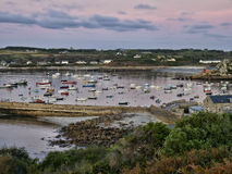 Port de rue Marys - îles de Scilly photos stock