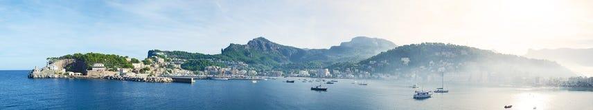 Port de Sóller panorama Royalty Free Stock Photo