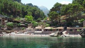 Port de Sa Calobra, Majorque, Espagne La baie, la plage et le petit port du bateau