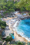 Port de Sa Calobra y mar Mediterráneo, Majorca Foto de archivo