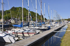 Port de Saint Brieuc dans les Frances photo stock