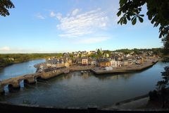 Port de saint Goustan, Auray Photo libre de droits