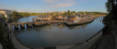Port de saint Goustan, Auray Image stock