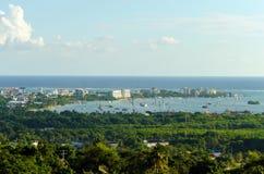 Port de San Andres en Colombie photos stock