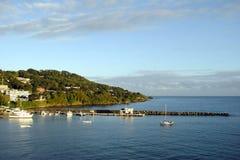 Port de Scarborough au Tobago Photo libre de droits