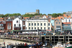 Port de Scarborough en Angleterre Photo stock