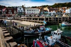 Port de Scarborough et embarcation de plaisance BRITANNIQUES Photos libres de droits