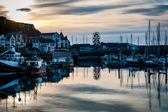 Port de Scarborough R-U Photographie stock libre de droits