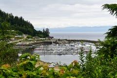 Port de Seiku sur les détroits de Juan De Fuca, WA Photo stock