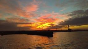 Port de Shoreham au lever de soleil Photos stock