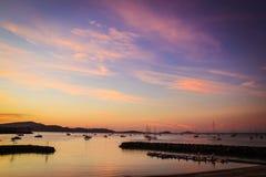 Port de Shute à la plage d'Airlie image libre de droits