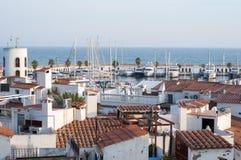 Port de Sitges - Aiguadolç foto de archivo libre de regalías